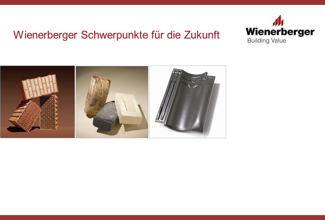 Wienerberger Schwerpunkte für die Zukunft