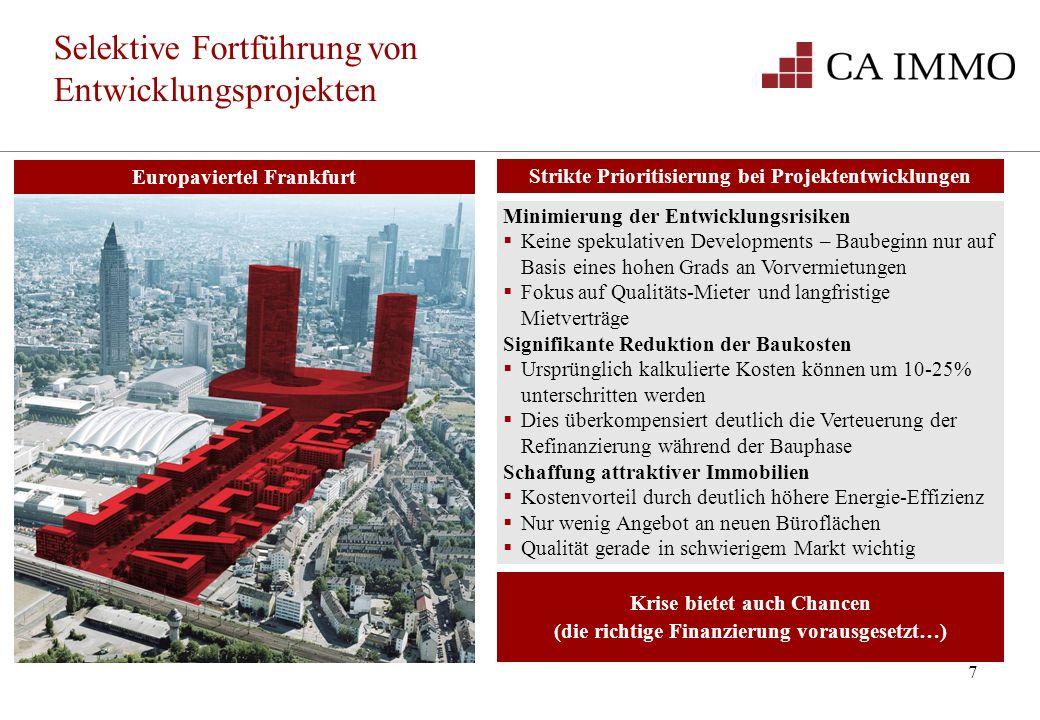 Selektive Fortführung von Entwicklungsprojekten
