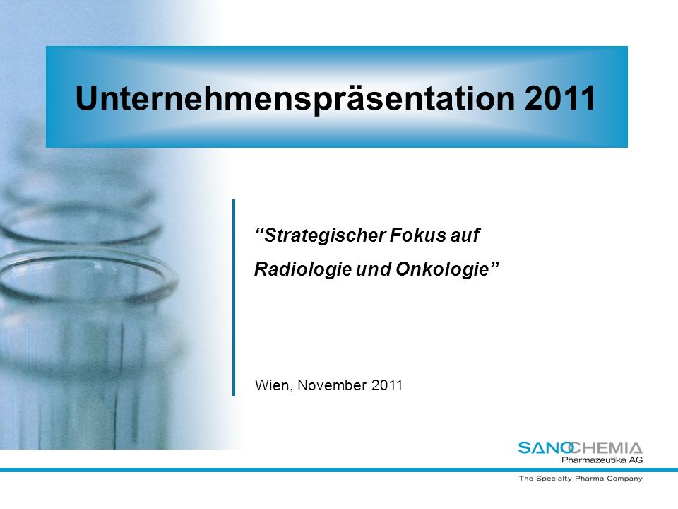Unternehmenspräsentation 2011