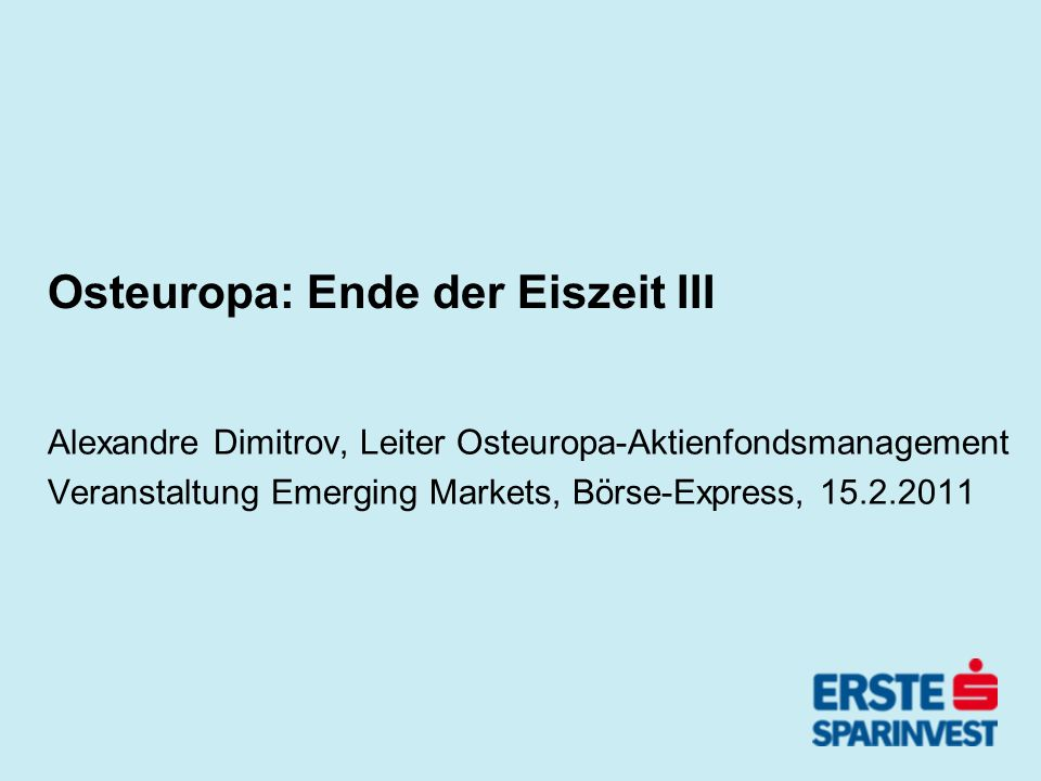 Osteuropa: Ende der Eiszeit III