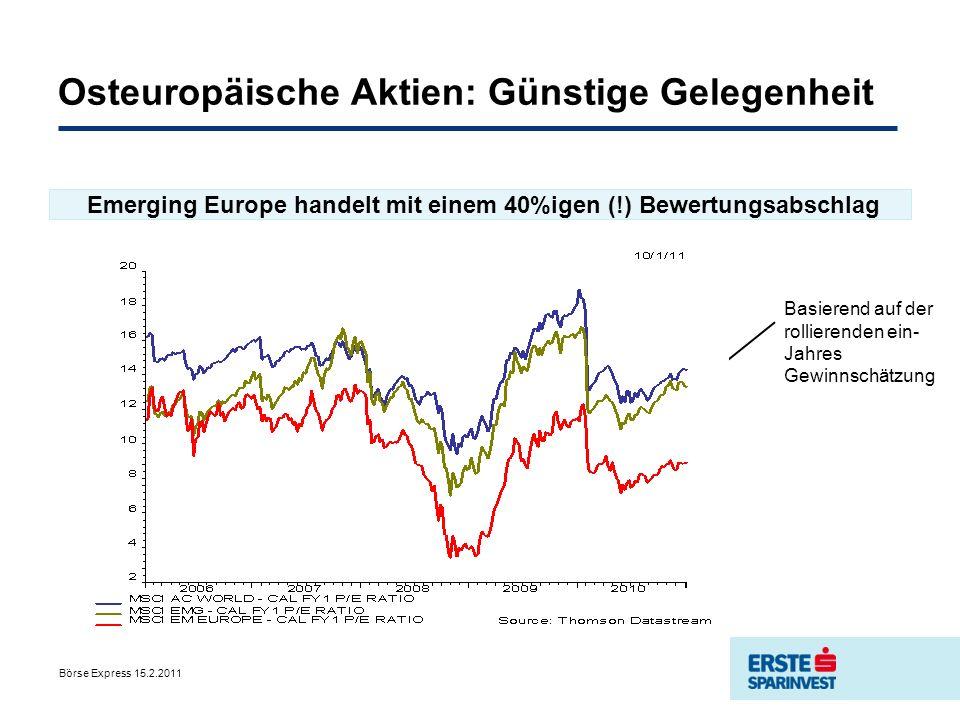 Osteuropäische Aktien: Günstige Gelegenheit