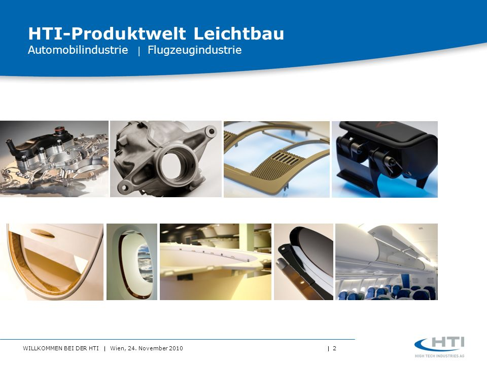 HTI-Produktwelt Leichtbau Automobilindustrie  Flugzeugindustrie