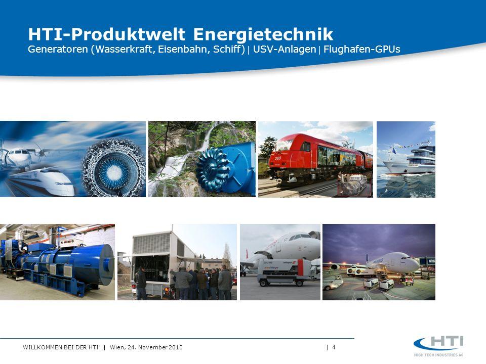 HTI-Produktwelt Energietechnik Generatoren (Wasserkraft, Eisenbahn, Schiff)  USV-Anlagen  Flughafen-GPUs