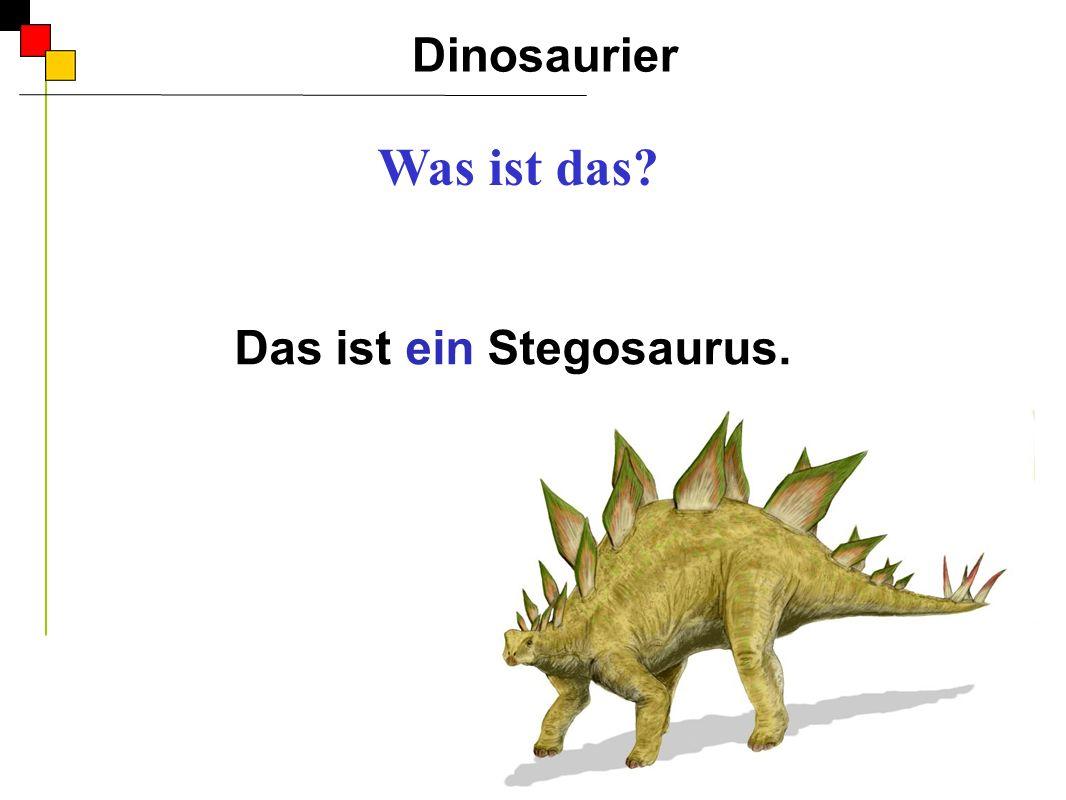 Das ist ein Stegosaurus.