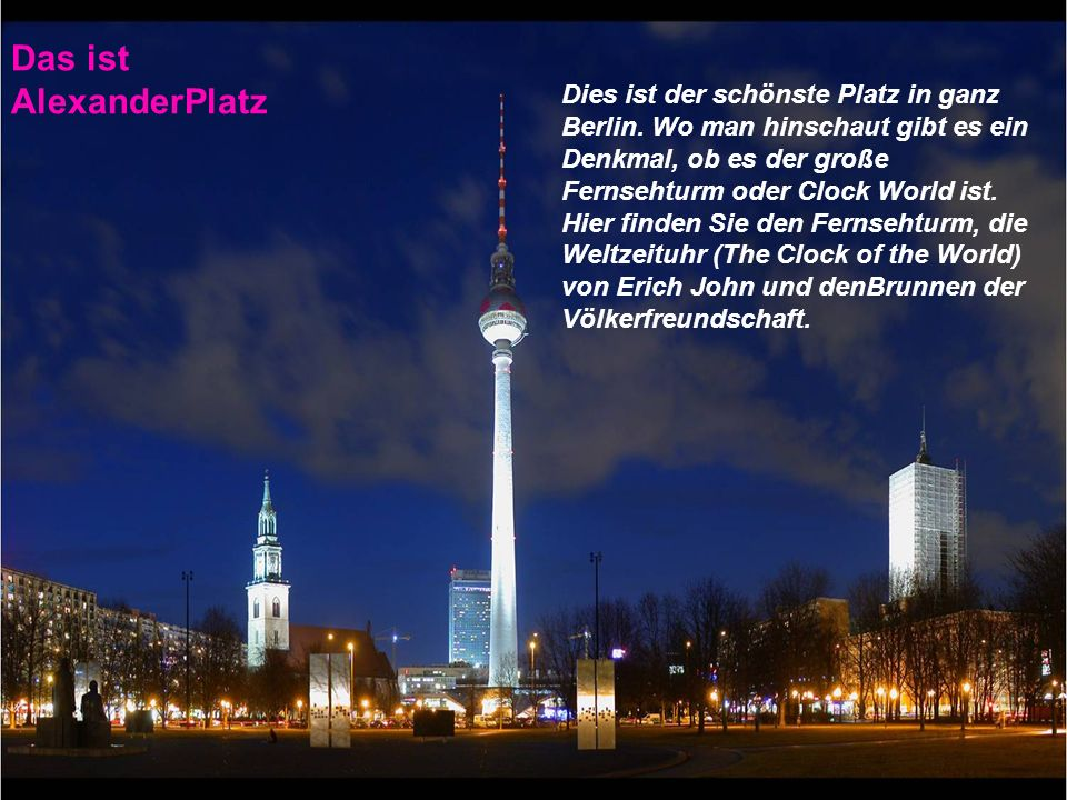Das ist AlexanderPlatz