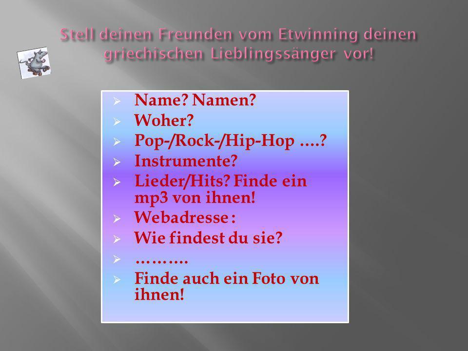 Lieder/Hits Finde ein mp3 von ihnen! Webadresse : Wie findest du sie