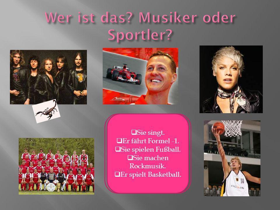 Wer ist das Musiker oder Sportler