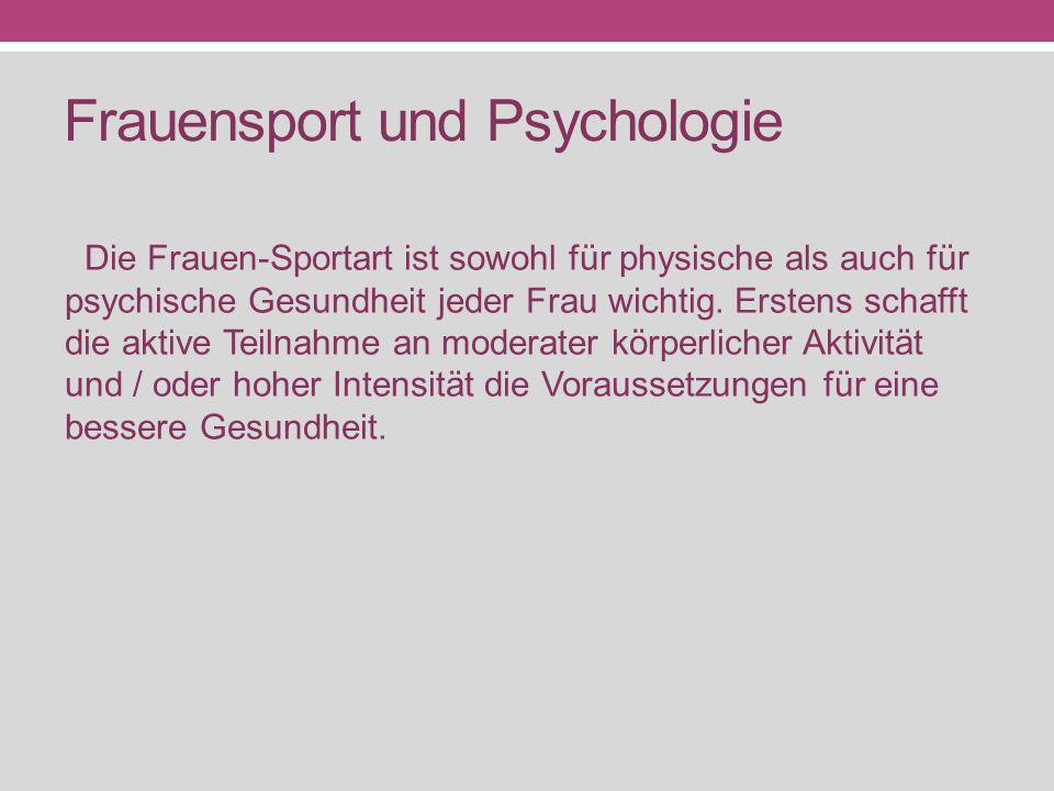 Frauensport und Psychologie