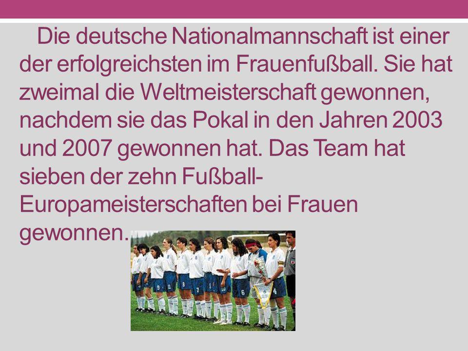 Die deutsche Nationalmannschaft ist einer der erfolgreichsten im Frauenfußball.
