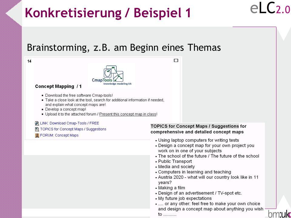 Konkretisierung / Beispiel 1