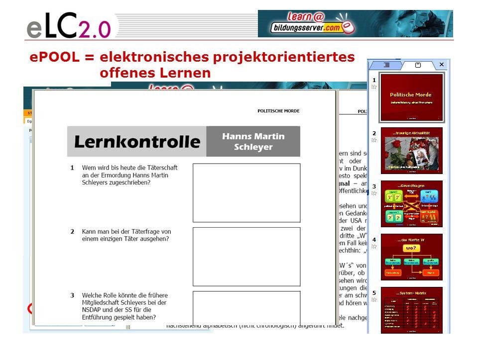ePOOL = elektronisches projektorientiertes offenes Lernen