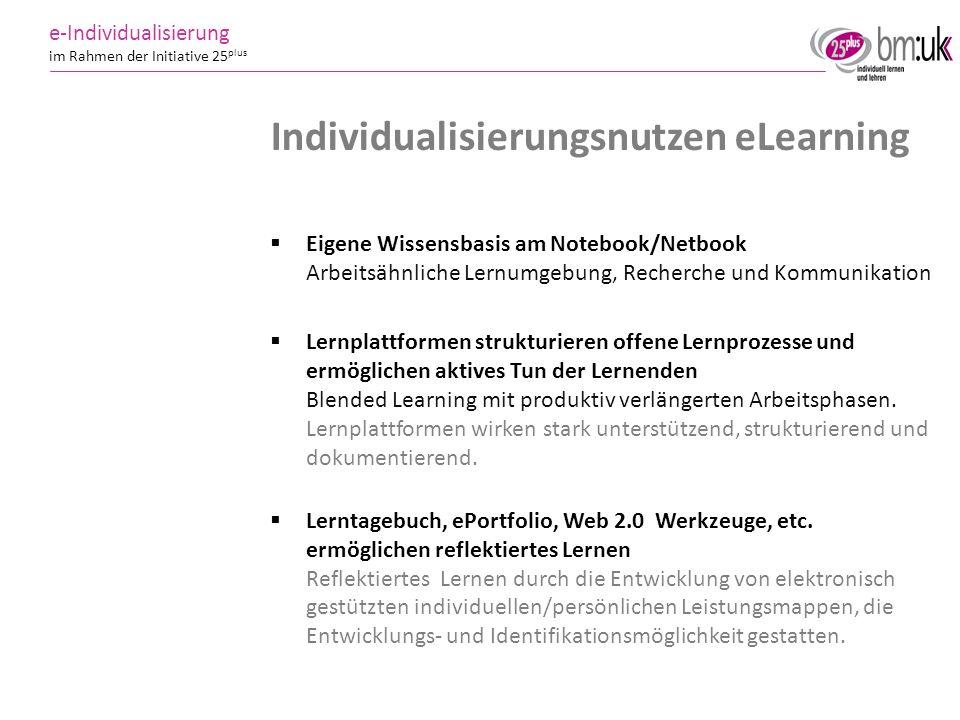 Individualisierungsnutzen eLearning