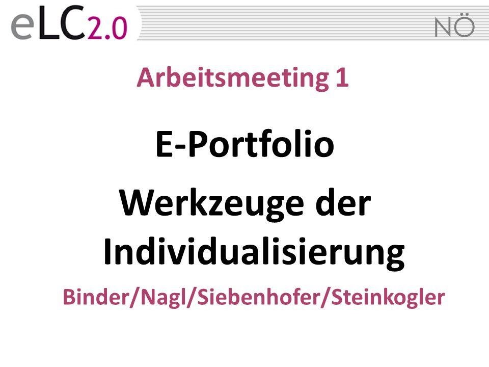 E-Portfolio Werkzeuge der Individualisierung