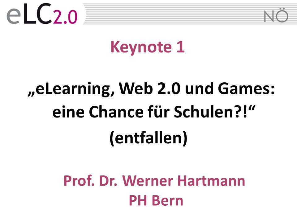 """""""eLearning, Web 2.0 und Games: eine Chance für Schulen !"""