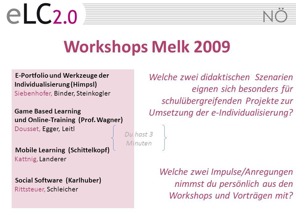 Workshops Melk 2009