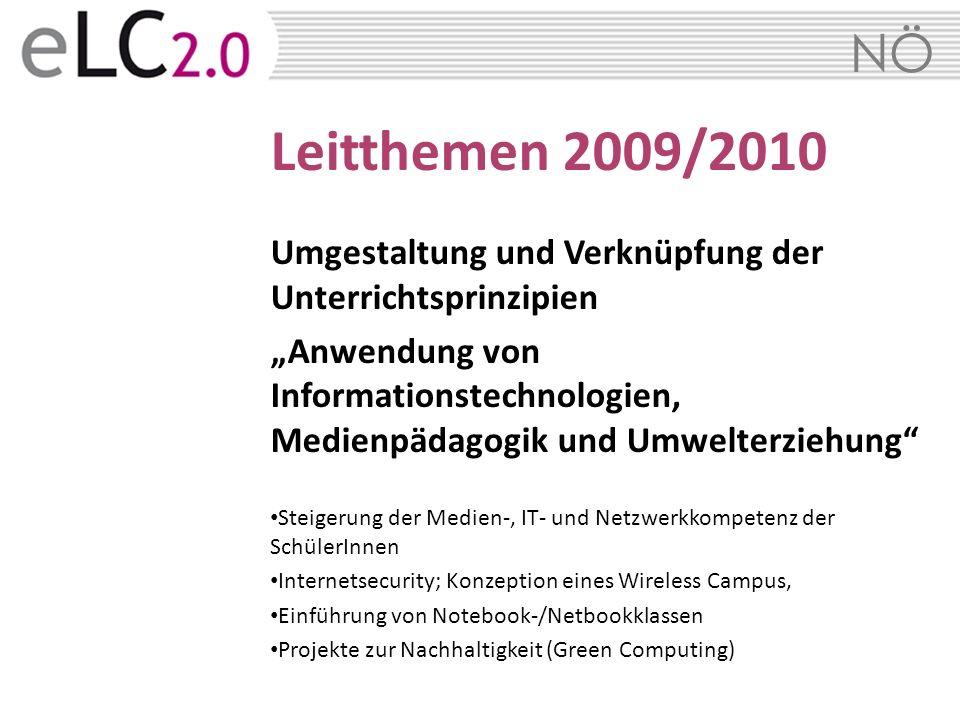 Leitthemen 2009/2010Umgestaltung und Verknüpfung der Unterrichtsprinzipien.