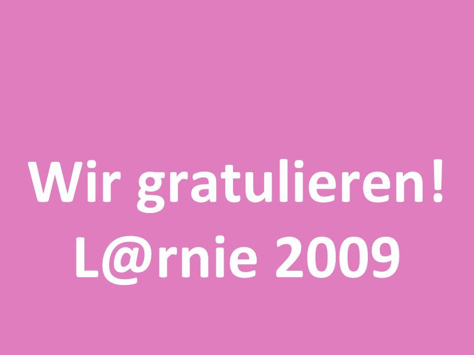 Wir gratulieren! L@rnie 2009