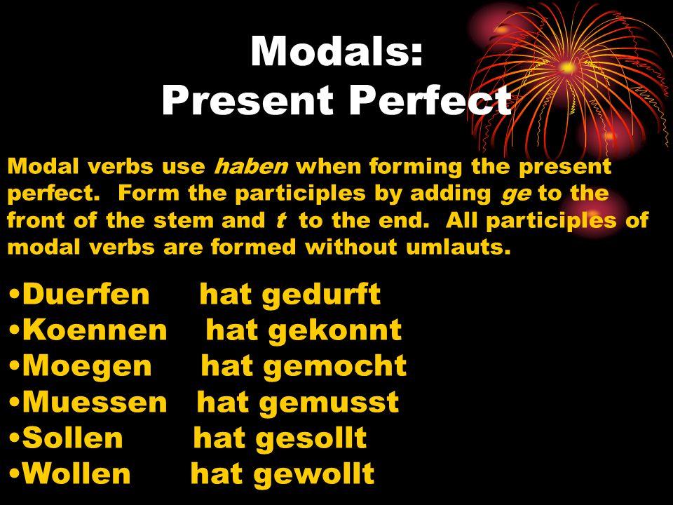 Modals: Present Perfect