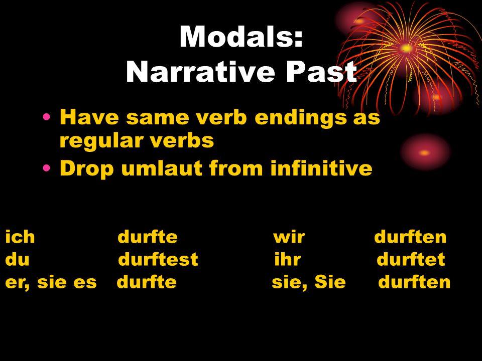 Modals: Narrative Past