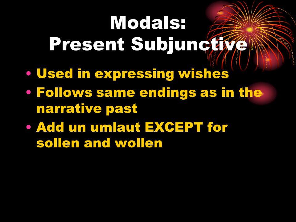 Modals: Present Subjunctive