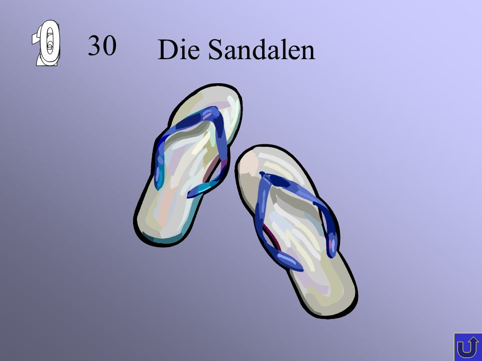 6 1 2 5 4 3 30 Die Sandalen