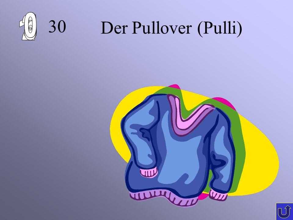 6 1 2 5 4 3 30 Der Pullover (Pulli)
