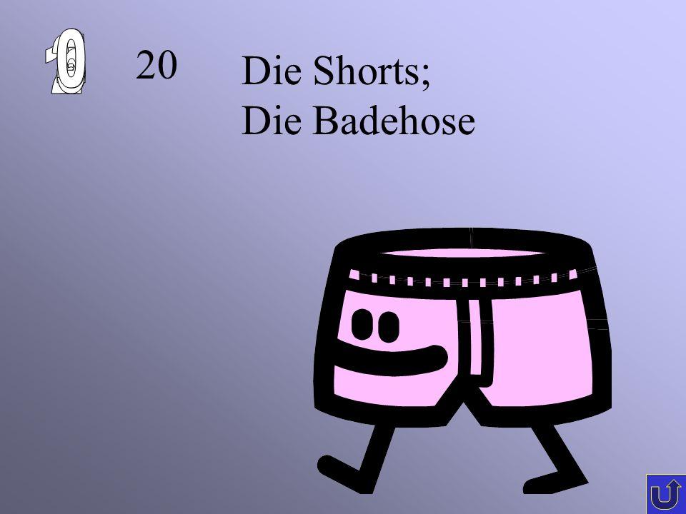 6 1 2 5 4 3 20 Die Shorts; Die Badehose