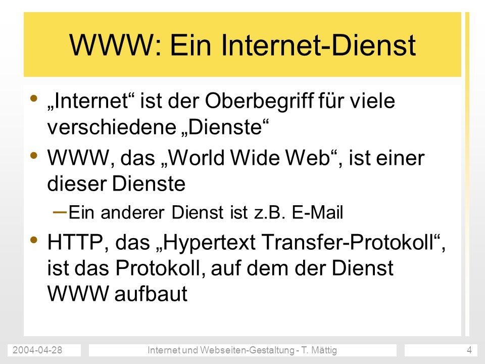 WWW: Ein Internet-Dienst