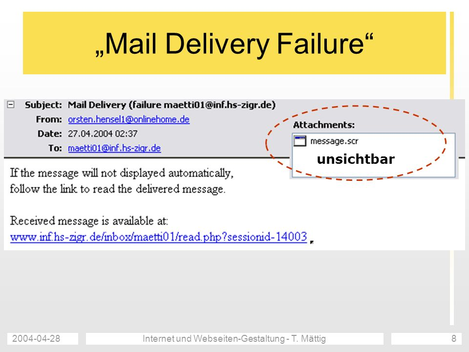 """Mail Delivery Failure"