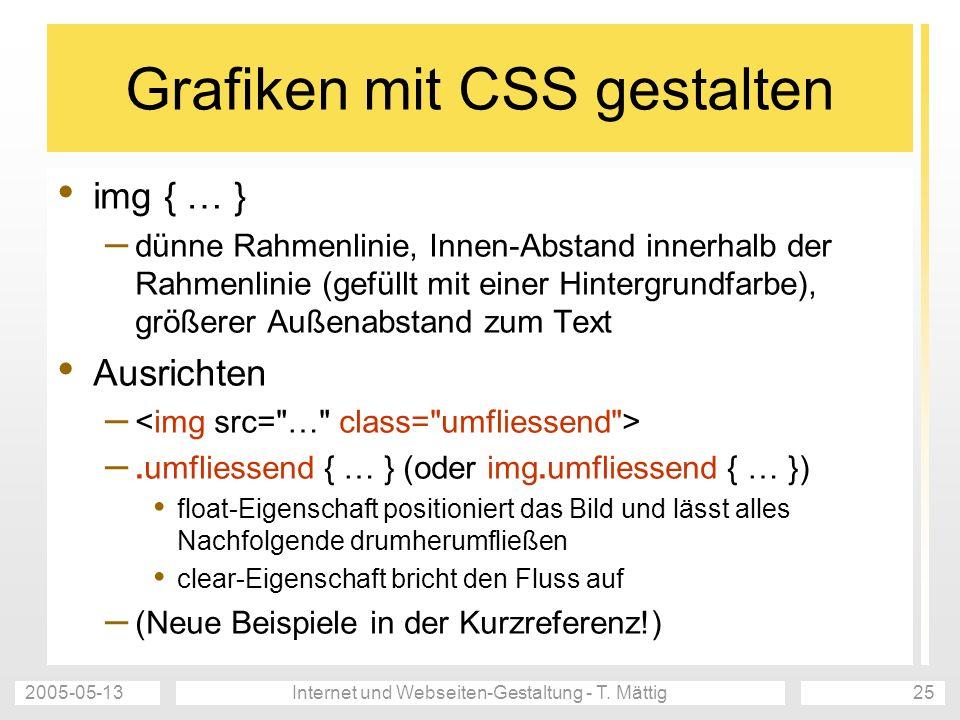 Grafiken mit CSS gestalten