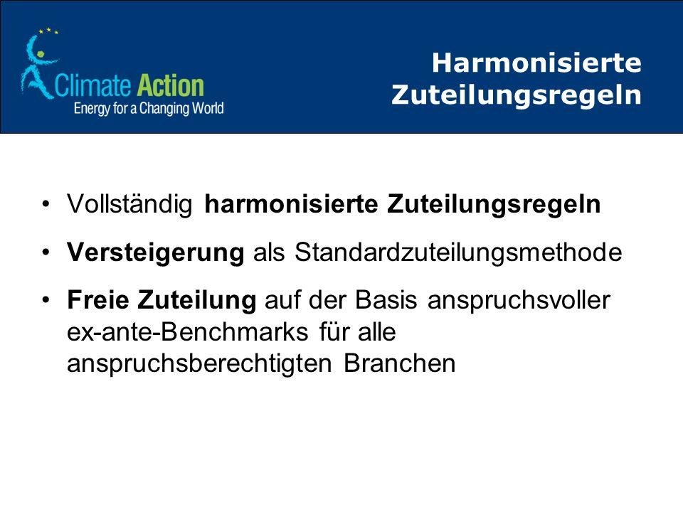 Harmonisierte Zuteilungsregeln