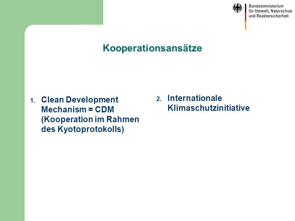 Kooperationsansätze Internationale Klimaschutzinitiative
