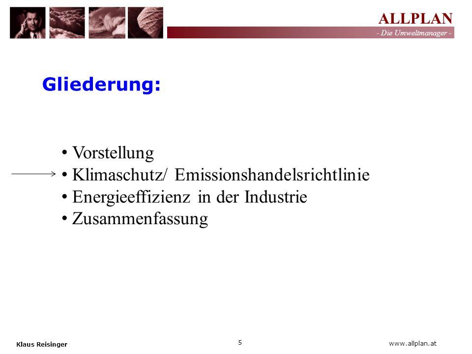 Gliederung: Vorstellung. Klimaschutz/ Emissionshandelsrichtlinie. Energieeffizienz in der Industrie.