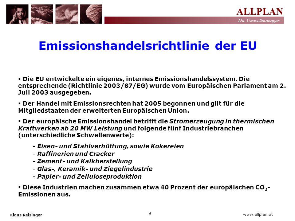 Emissionshandelsrichtlinie der EU