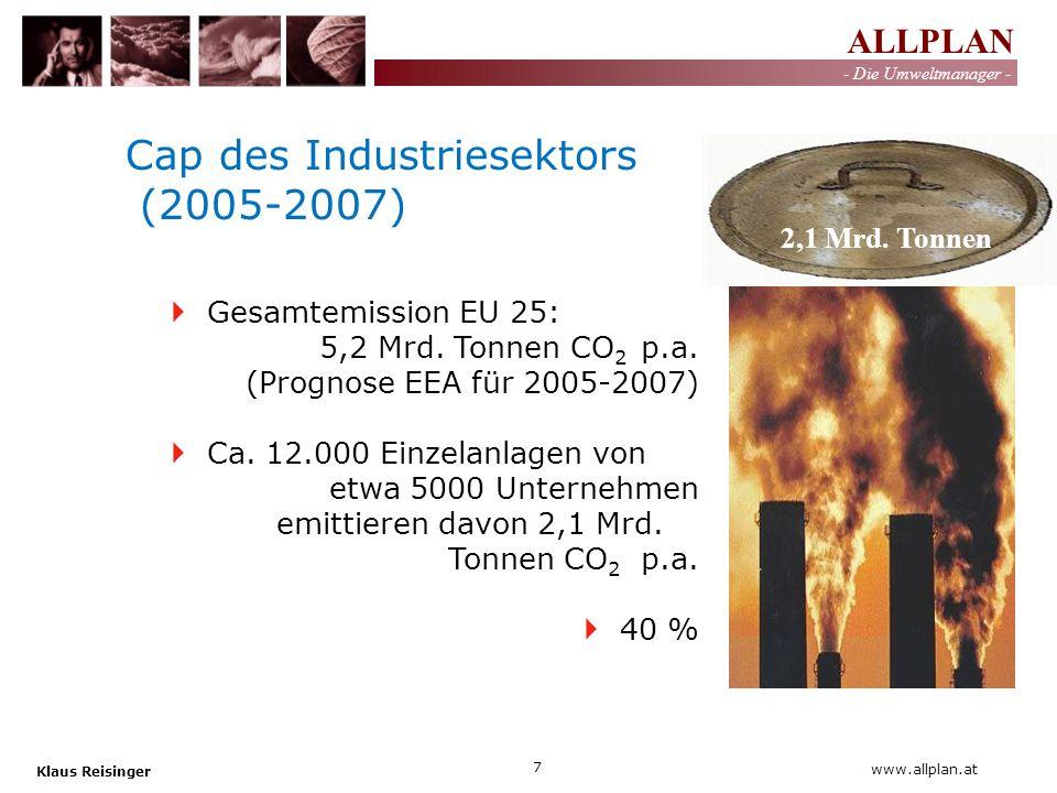 Cap des Industriesektors (2005-2007)