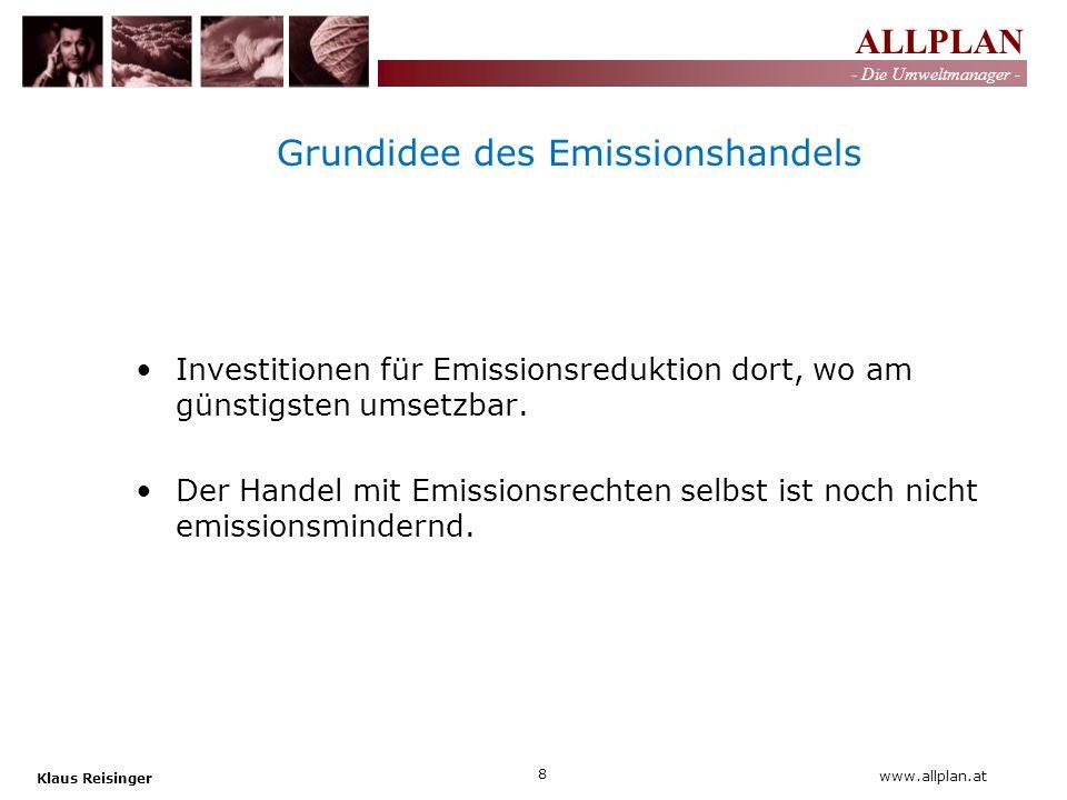 Grundidee des Emissionshandels