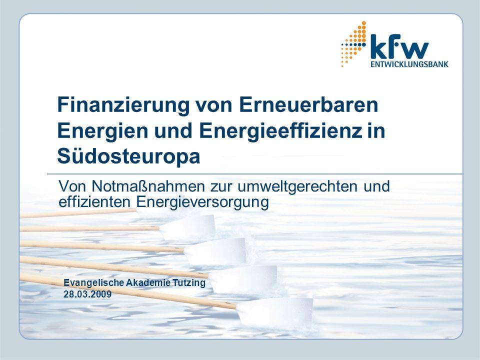 Von Notmaßnahmen zur umweltgerechten und effizienten Energieversorgung