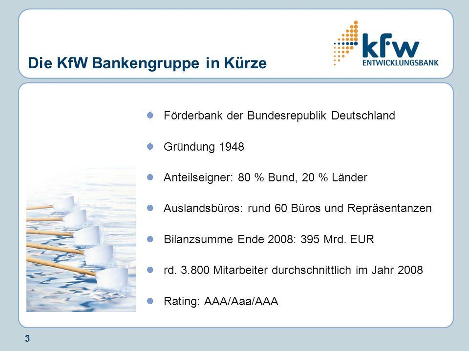 Die KfW Bankengruppe in Kürze