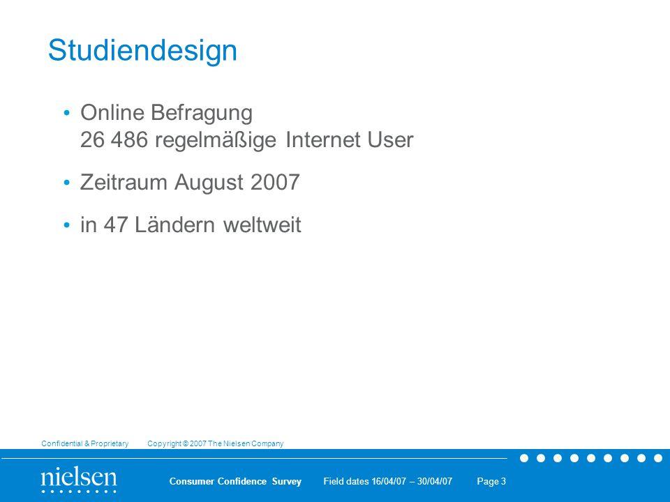 Studiendesign Online Befragung 26 486 regelmäßige Internet User