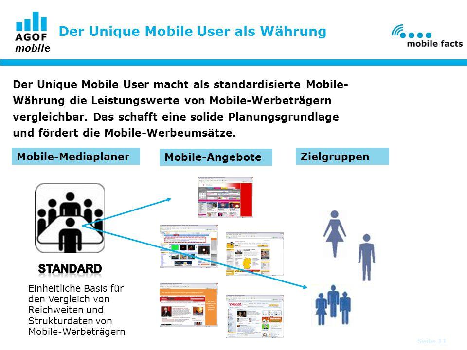 Der Unique Mobile User als Währung