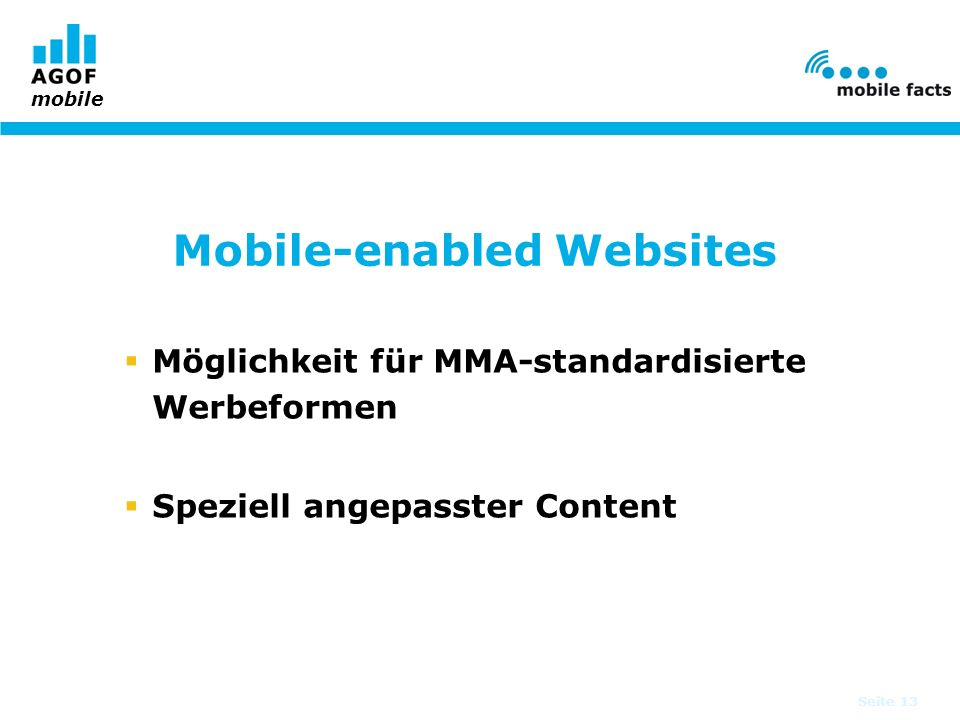 Mobile-enabled Websites