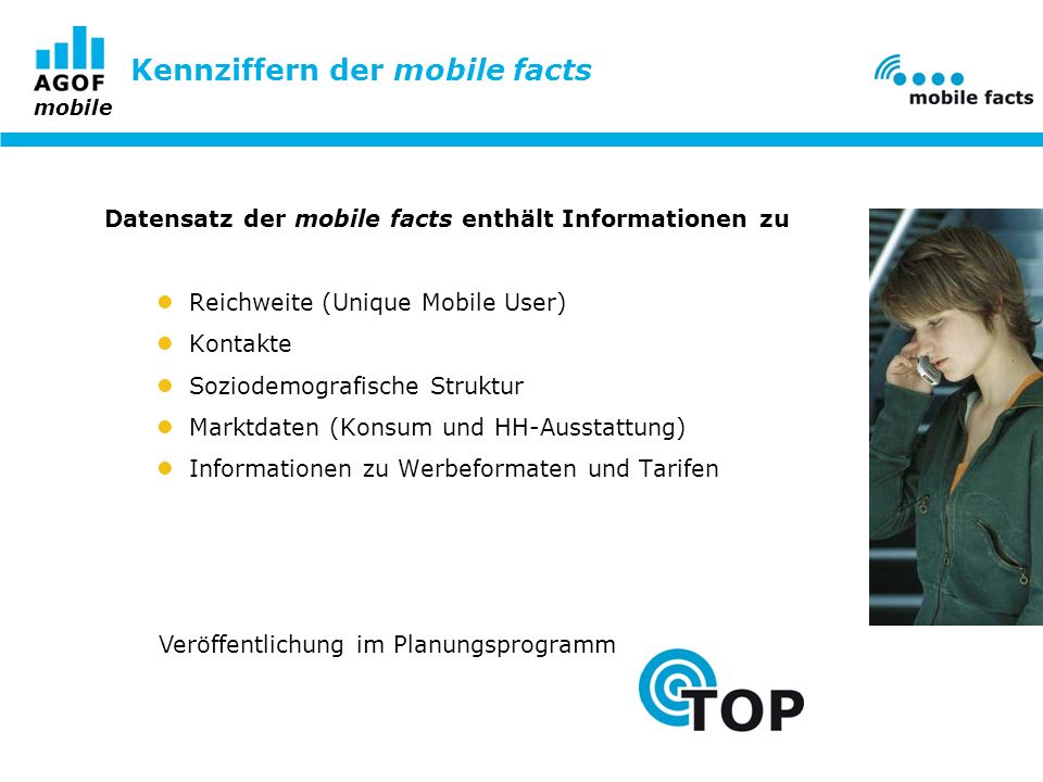 Kennziffern der mobile facts