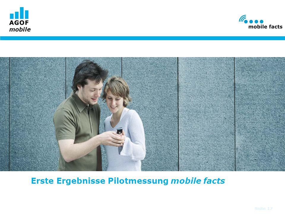 Erste Ergebnisse Pilotmessung mobile facts