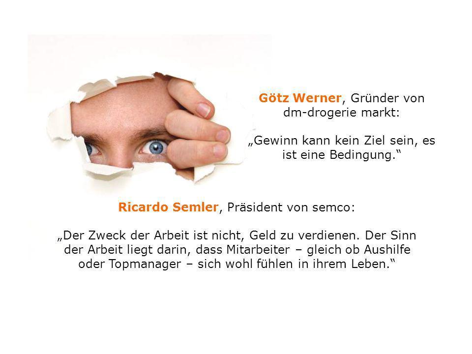 Götz Werner, Gründer von dm-drogerie markt: