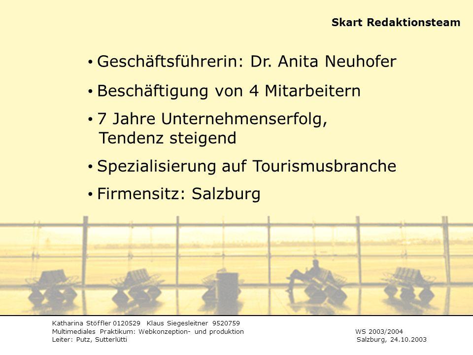 Geschäftsführerin: Dr. Anita Neuhofer
