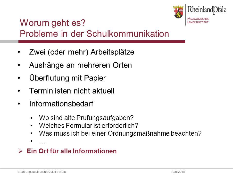 Probleme in der Schulkommunikation