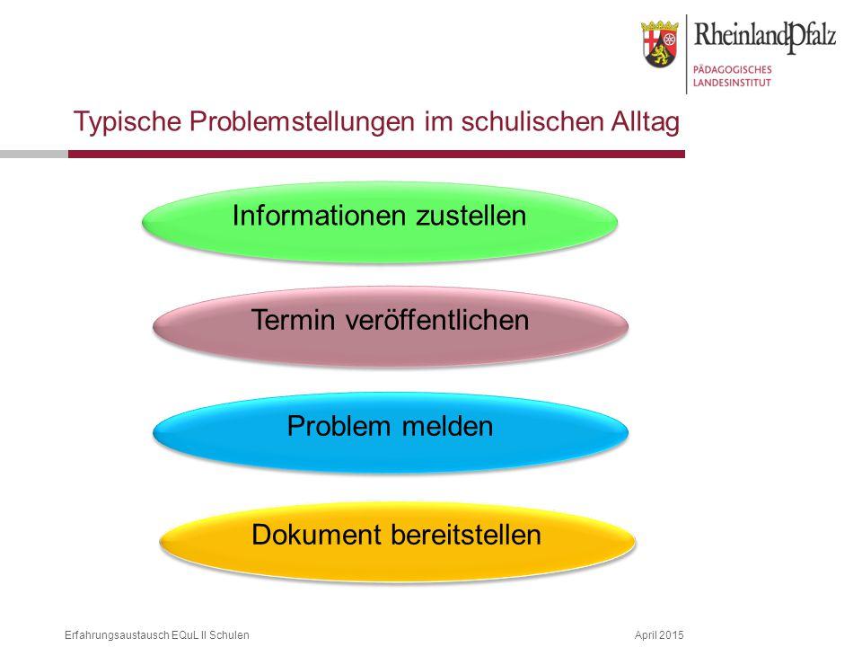 Informationen zustellen
