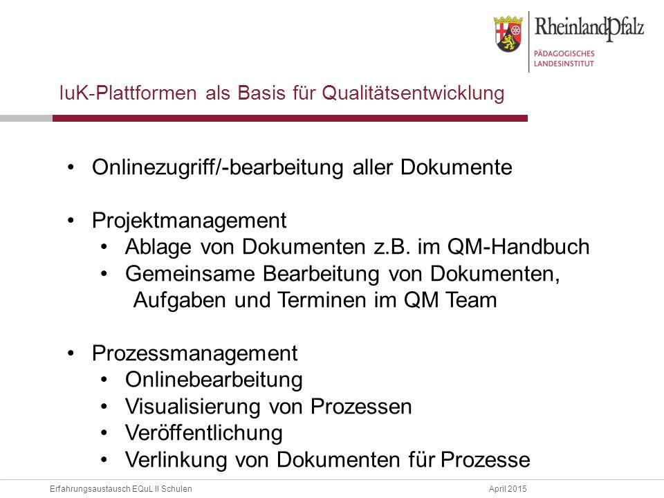 Onlinezugriff/-bearbeitung aller Dokumente Projektmanagement