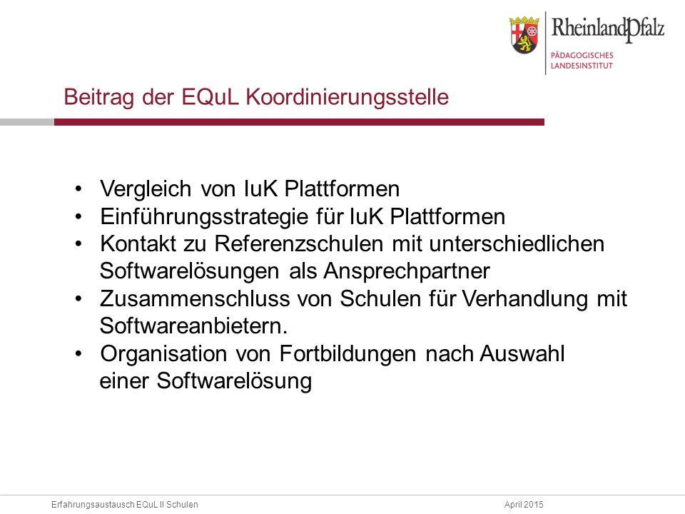 Beitrag der EQuL Koordinierungsstelle