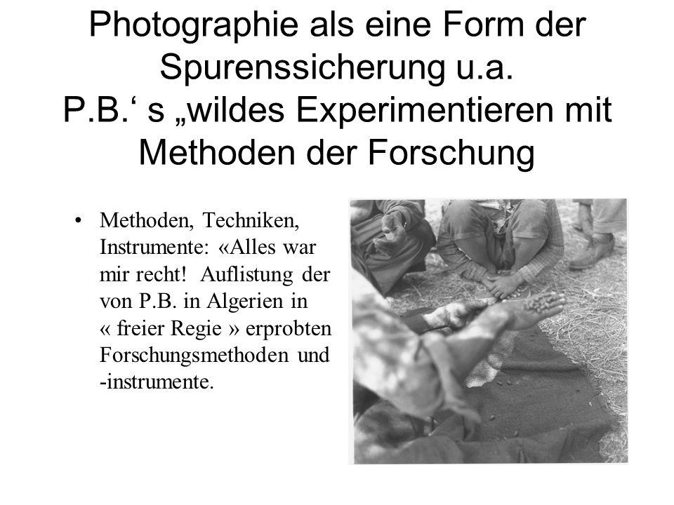 Photographie als eine Form der Spurenssicherung u. a. P. B